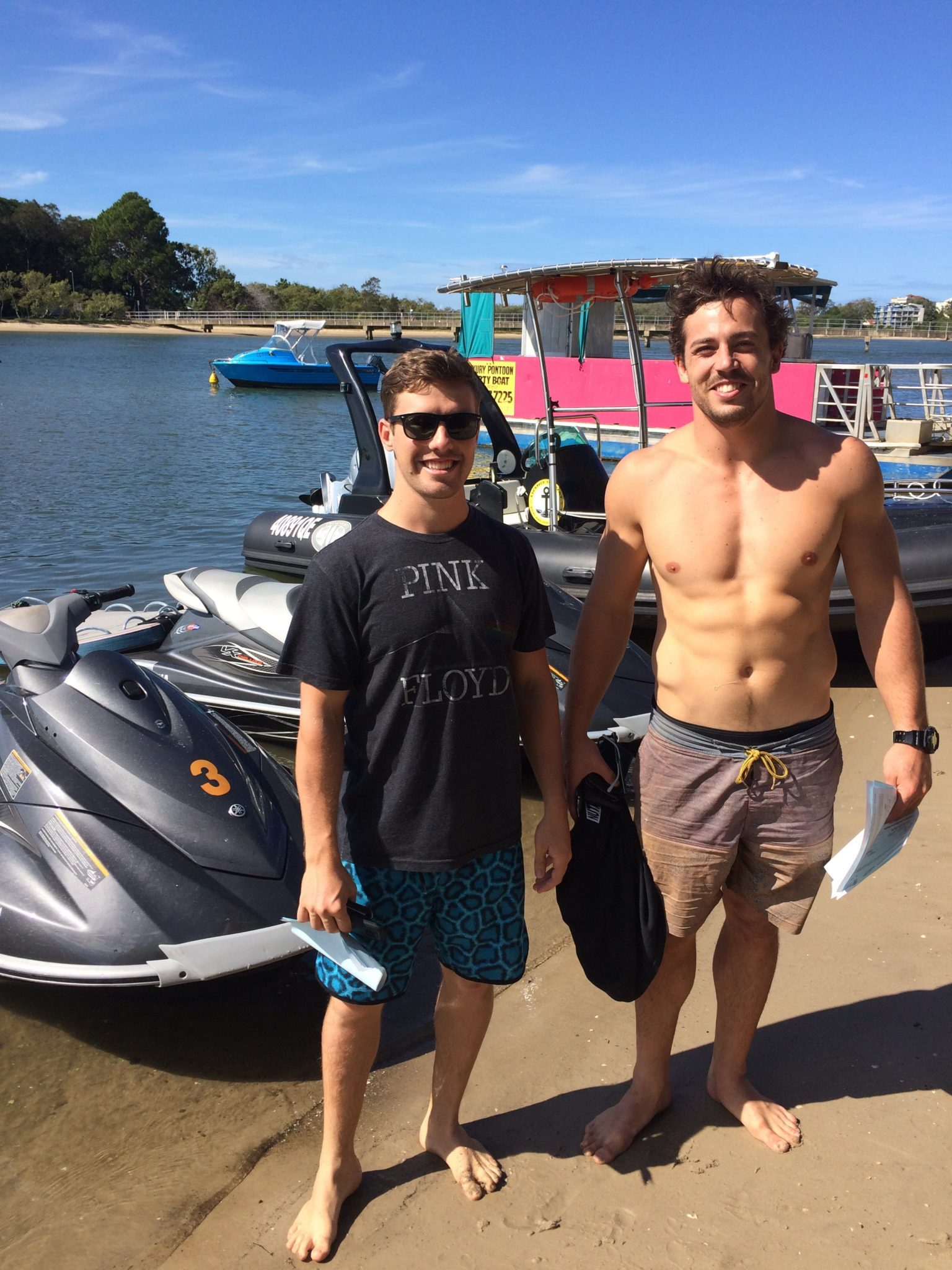Brad & Tom, LTB's newest combined boat and jet ski course graduates